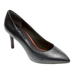 Women's Rockport Total Motion 75mm Pointy Pump Nero Leather