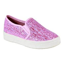 Women's Reneeze Olga-06 Slip-on Funky Glittery Sneaker Purple PU