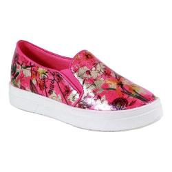 Women's Reneeze Olga-08 High Platform Slip-on Floral Sneaker Fuchsia PU
