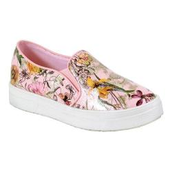 Women's Reneeze Olga-08 High Platform Slip-on Floral Sneaker Pink PU