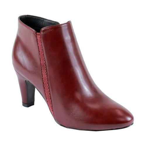 Reneeze Women's Faux Leather Ankle Bootie Red