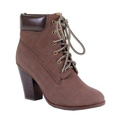 Women's Reneeze Pala-01 Lace-up Working Bootie Brown