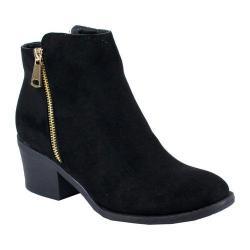 Women's Reneeze Pama-01 Stacked Heel Ankle Bootie Black