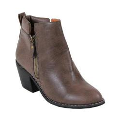Women's Reneeze Polo-01 Stacked Heel Ankle Booties Grey Taupe