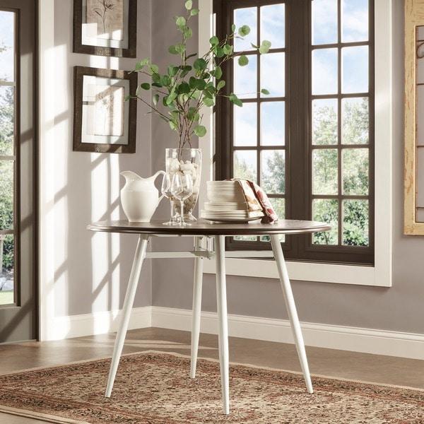 belita mid century two tone modern wood dining table inspire q modern