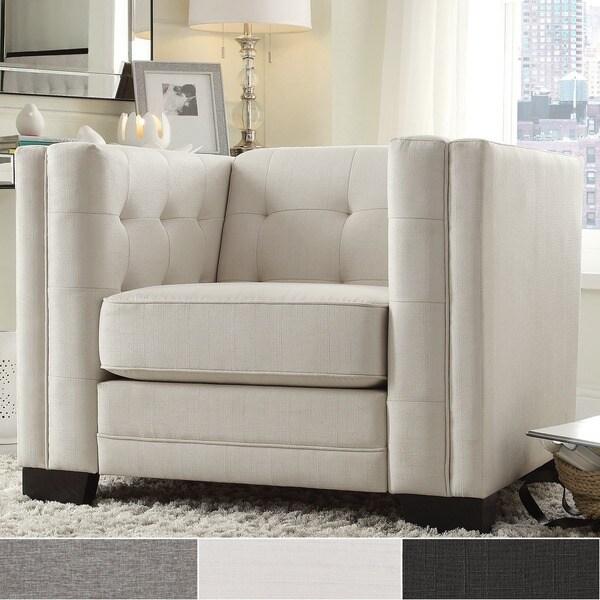 Hamilton Linen Button-tufted Accent Chair by iNSPIRE Q Bold & Hamilton Modern Linen Sofa with Button Tufting by iNSPIRE Q Bold ... islam-shia.org