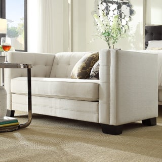 Hamilton Linen Tufted Loveseat by iNSPIRE Q Bold