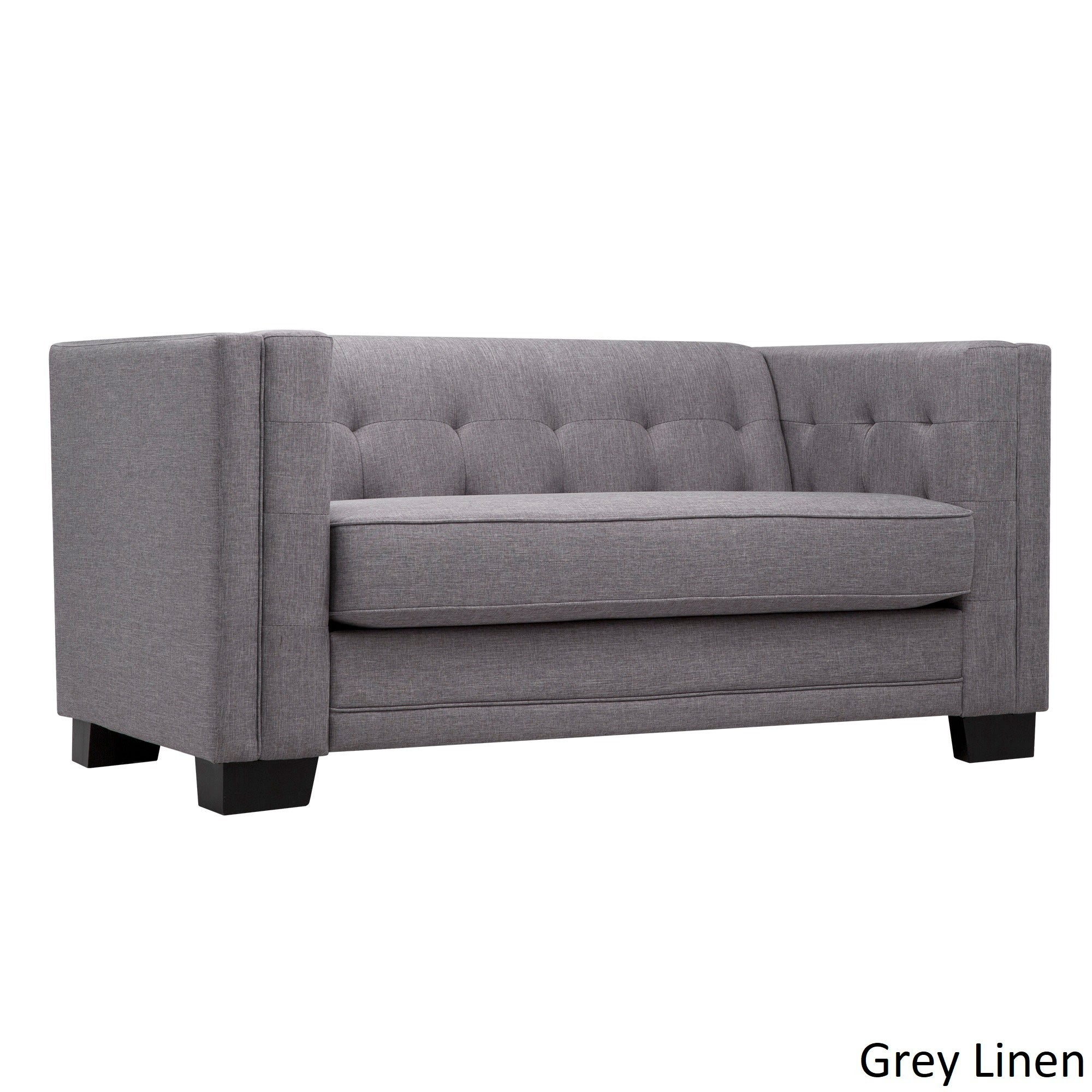 Pleasant Hamilton Linen Tufted Loveseat By Inspire Q Bold Gmtry Best Dining Table And Chair Ideas Images Gmtryco