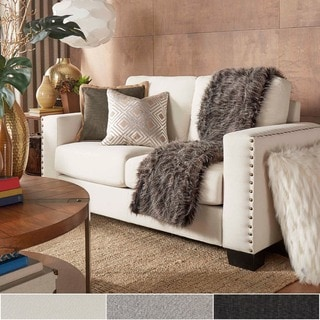 Torrington Linen Nailhead Track Arm Loveseat by INSPIRE Q