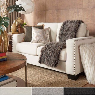 Torrington Linen Nailhead Track Arm Loveseat by iNSPIRE Q Classic (3 options available)