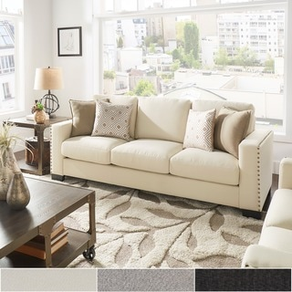 Torrington Linen Nailhead Track Arm Sofa by INSPIRE Q