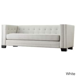 Hamilton Modern Linen Sofa With On Tufting By Inspire Q Bold