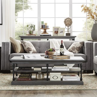 Hamilton Modern Linen Sofa with button tufting by INSPIRE Q