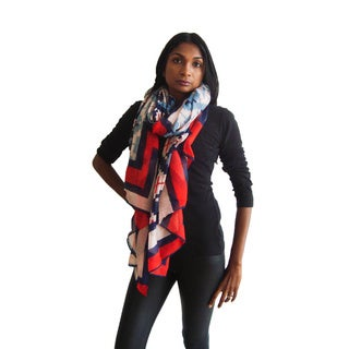 Large Multicolor Geometric Scarf