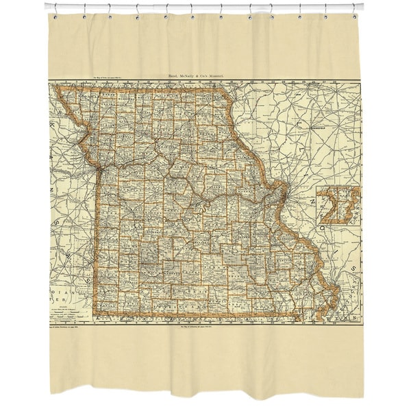 1800s Missouri Map Shower Curtain