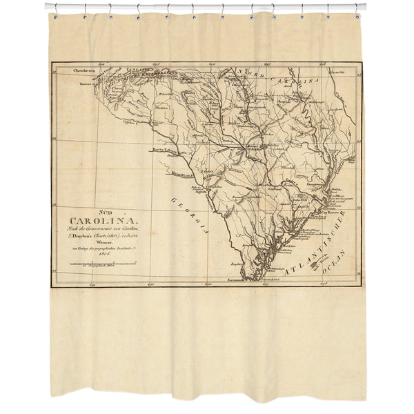 1606 South Carolina Map Shower Curtain
