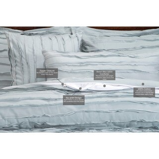 Tattered Luxury Cotton 6-piece Duvet Cover Set with Duvet Insert