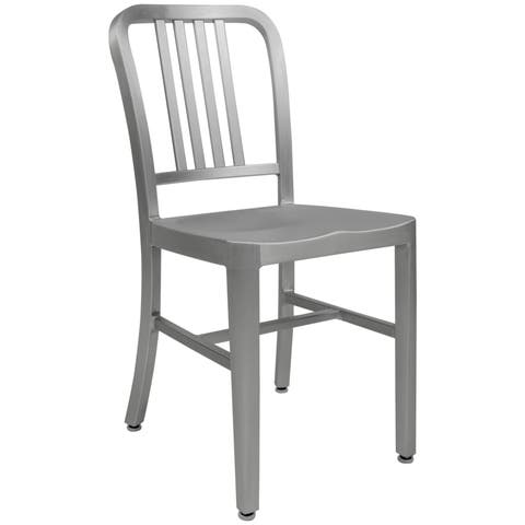 LeisureMod Alton Modern Aluminum Dining Side Chair