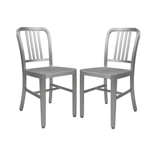 Etonnant LeisureMod Alton Modern Aluminum Dining Side Chair (Set Of 2)