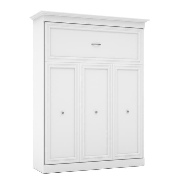 versatile by bestar 115inch queensize wall bed kit with doors