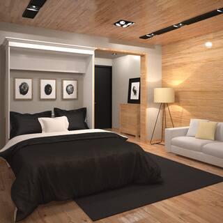 Versatile By Bestar 69 Inch Queen Size Wall Bed