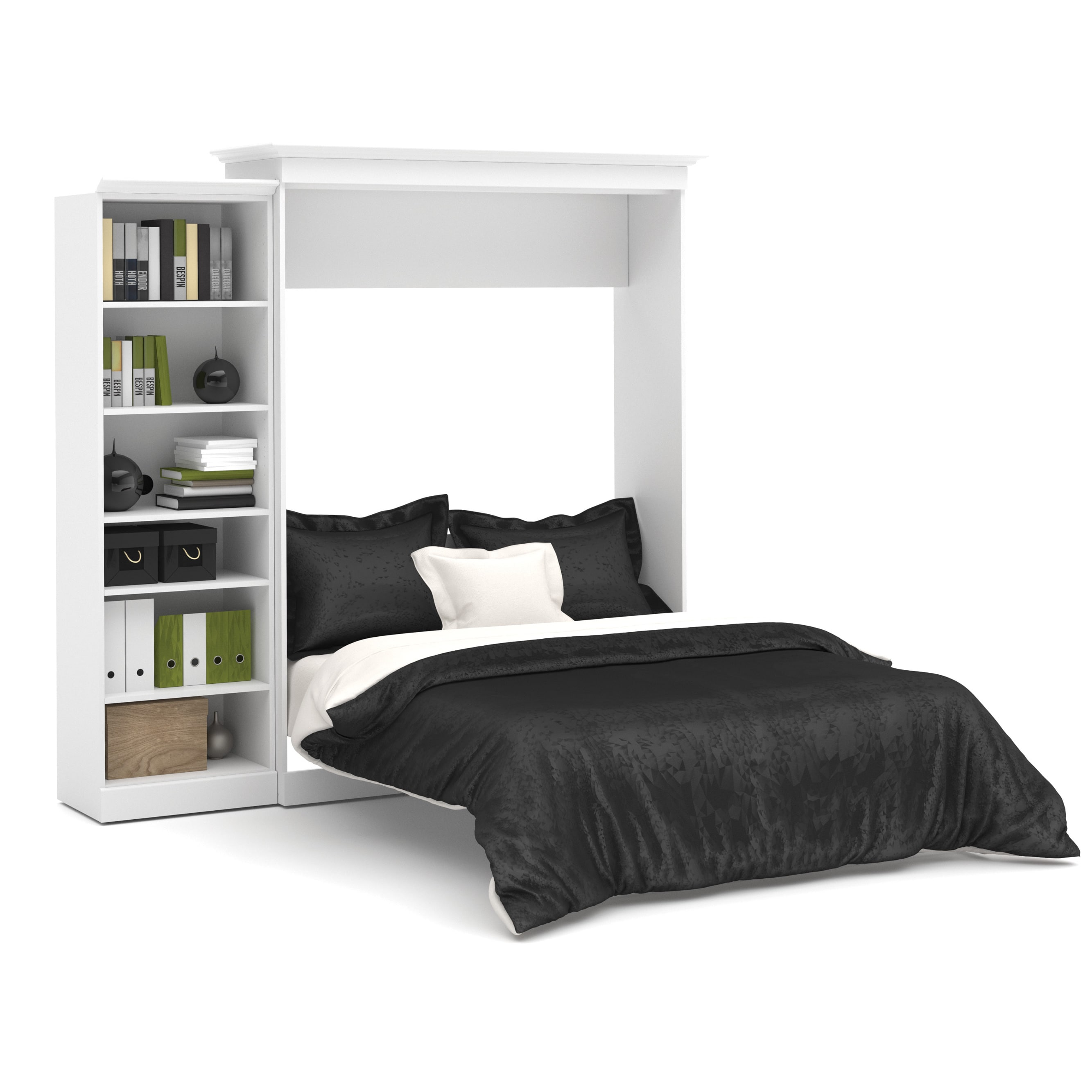 Versatile by Bestar 92-inch Queen-size Wall Bed Kit (Whit...