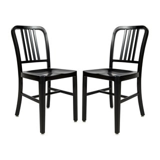 LeisureMod Alton Black Modern Dining Chair (Set of 2)