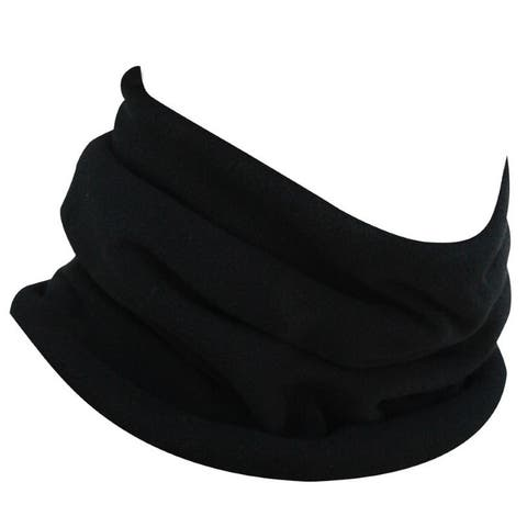 Zan Headgear Neck Gaiter Microfleece Black