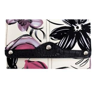 Parinda 'Giada' Violet Floral Fabric Wallet