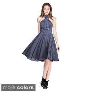 Women's Short Dress Convertible Wrap Cocktail Gown Multi Way Bridesmaid Dresses One Size Fits 0-12|https://ak1.ostkcdn.com/images/products/9400591/P16589084.jpg?impolicy=medium