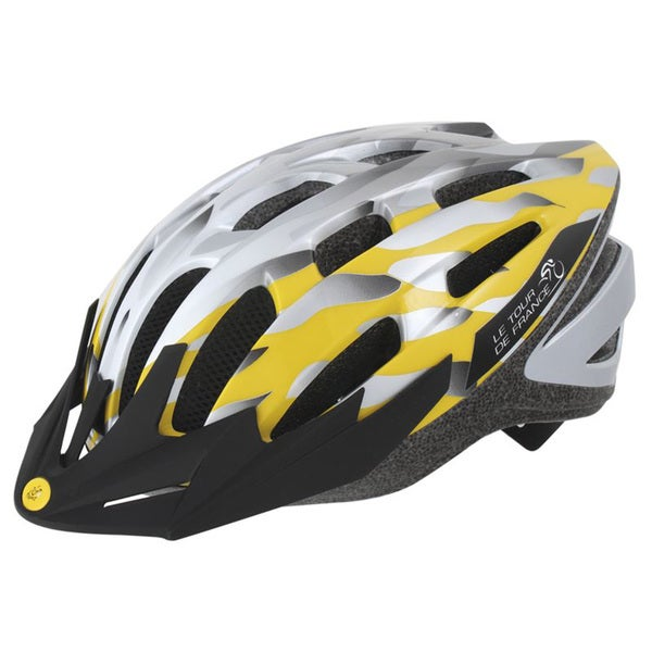Silver/ Yellow In-Mold Bicycle Helmet