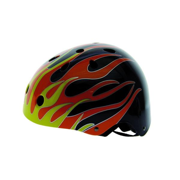 Black Flames Freestyle Helmet