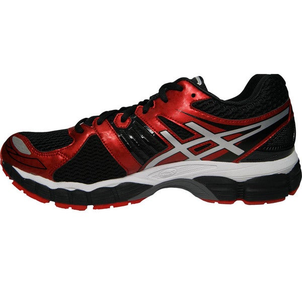 Shop Asics Men's 'Gel Nimbus 15' Black Red Silver Running