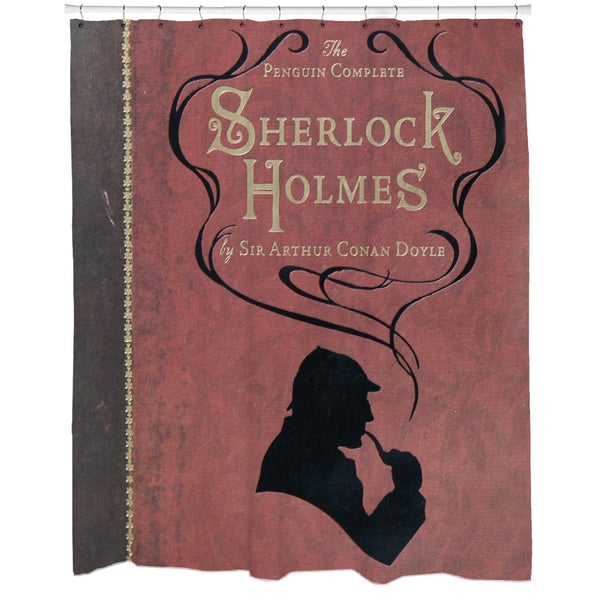Sherlock Holmes Printed Shower Curtain - 16589227 - Overstock.com ...