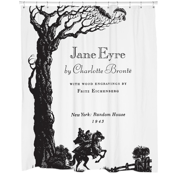 Jane Eyre Printed Shower Curtain