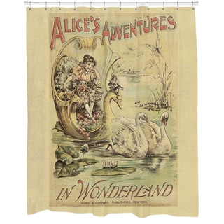 Alice in Wonderland Printed Shower Curtain