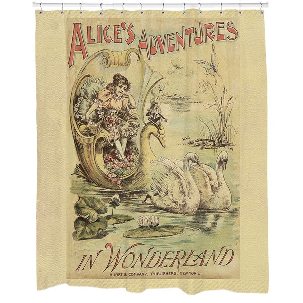 Curtains Ideas alice in wonderland curtains : Alice in Wonderland Printed Shower Curtain - Free Shipping Today ...