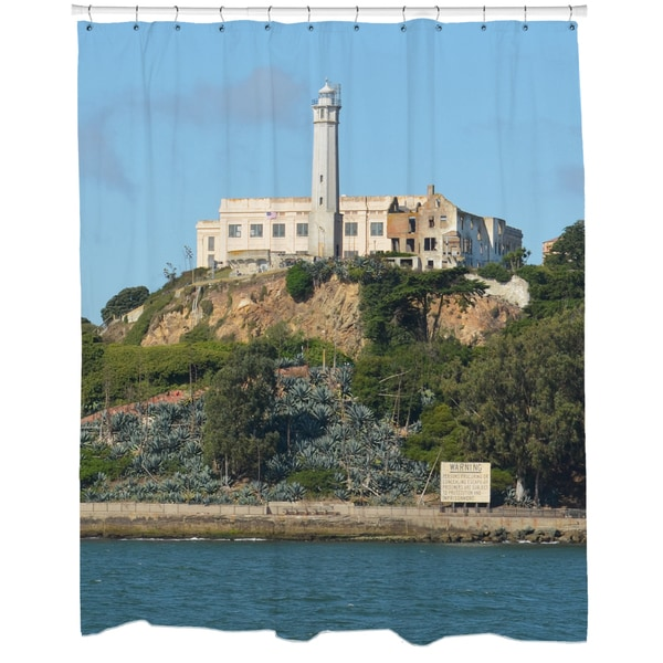Alcatraz Printed Shower Curtain