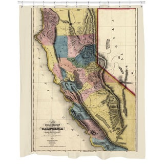 1851 California Map Shower Curtain