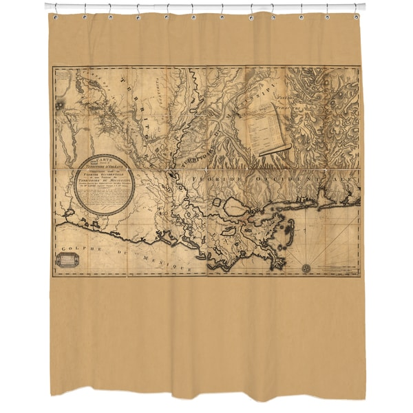 Mississippi Map Shower Curtain