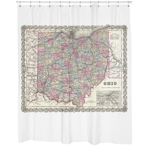 Ohio Map Shower Curtain