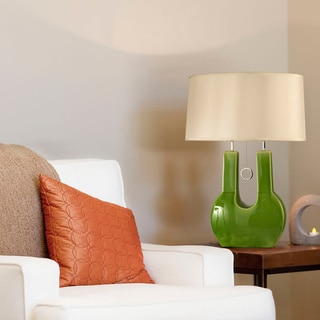 Nova Lighting Emperor Green U-shaped Table Lamp