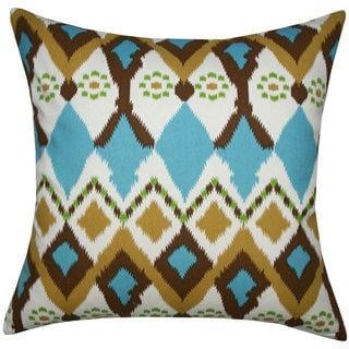 Multicolored Ikat Toss Pillow (India)