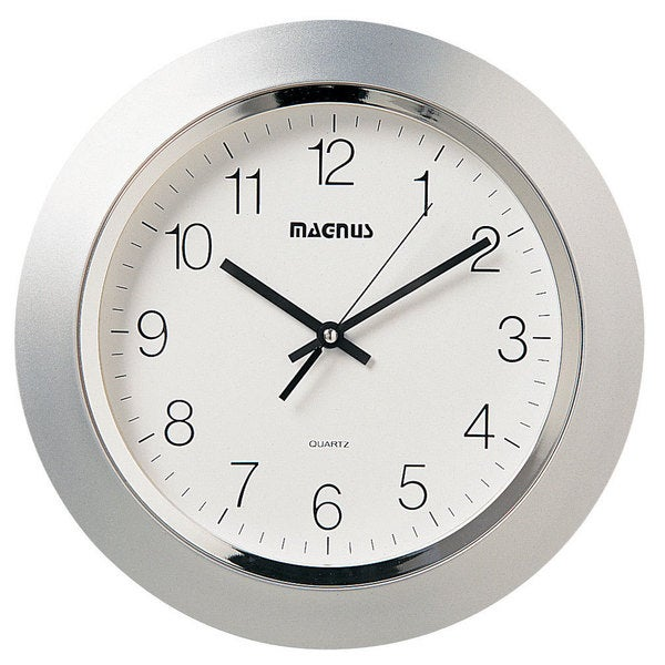 Magnus Silvertone 14-inch Wall Clock - Free Shipping Today