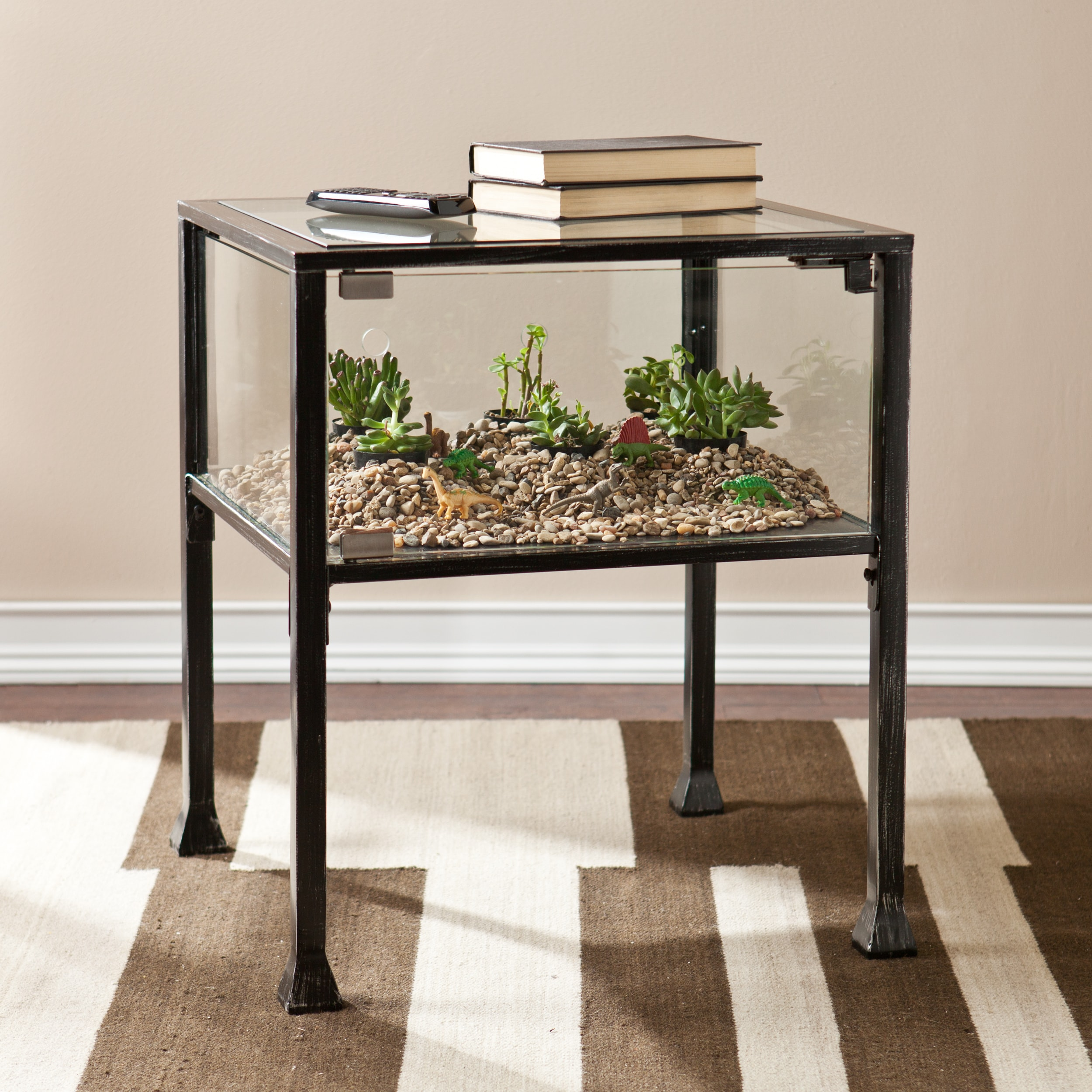 Porch & Den RiNo Brighton Display/ Terrarium Side/ End Table