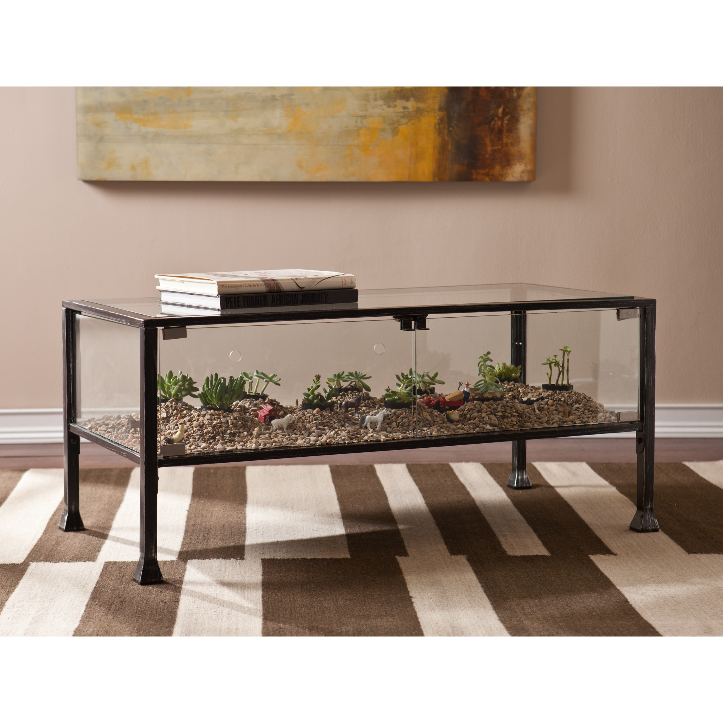 Brass Display Coffee Table: Shop Porch & Den RiNo Brighton Display/ Terrarium Coffee