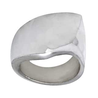 Kele & Co Hammered Geometric Ring made in .925 Sterling Silver|https://ak1.ostkcdn.com/images/products/9400995/P16589506.jpg?impolicy=medium