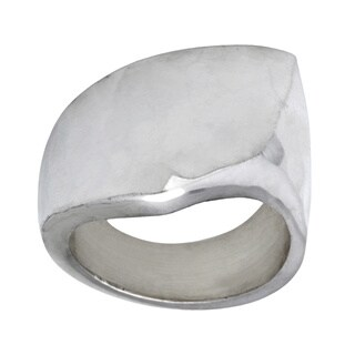 Kele & Co Hammered Geometric Ring made in .925 Sterling Silver (5 options available)