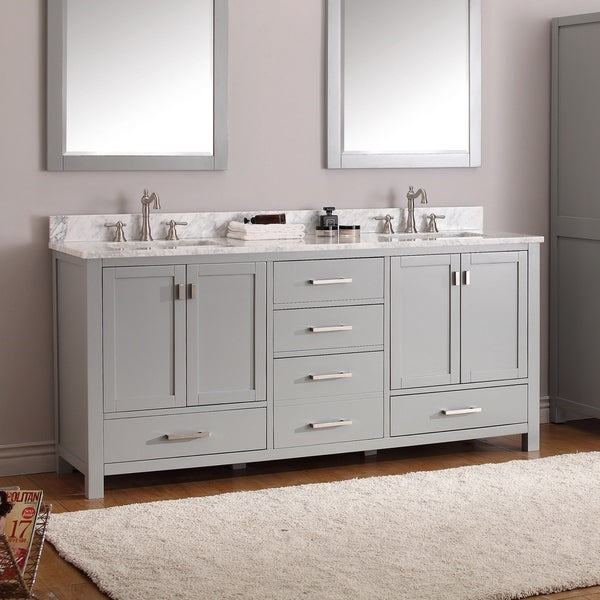 Shop Avanity Modero 73-inch Double Vanity Combo in Chilled ...