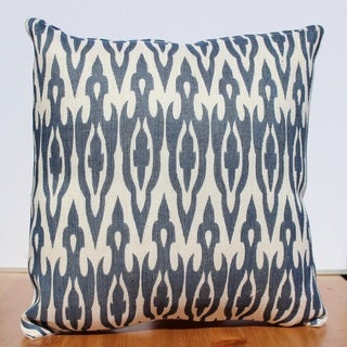 Auburn Textiles 16 x 16-inch Jute Printed Abstract Decorative Throw Pillow Cover